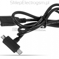 Kabel USB Micro USB + Mini USB 2w1